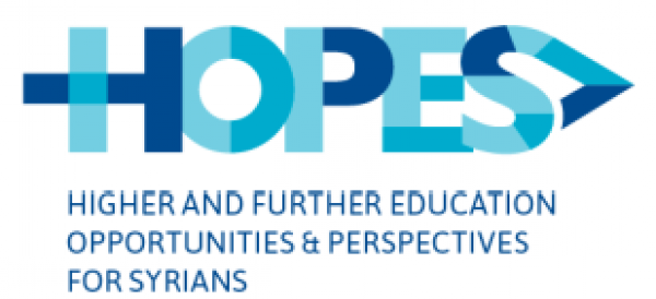 HOPES Scholarship program for refugees from Syria funded by the EU 'Madad' Fund Announcement for Master's Degree scholarships in Lebanon - ِApplication